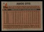 1983 Topps #75   Amos Otis Back Thumbnail