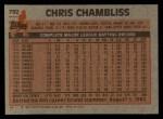 1983 Topps #792  Chris Chambliss  Back Thumbnail