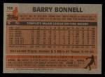 1983 Topps #766   Barry Bonnell Back Thumbnail