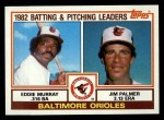 1983 Topps #21  Orioles Team Leaders  -  Eddie Murray / Jim Palmer Front Thumbnail