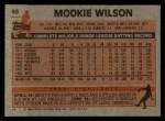 1983 Topps #55   Mookie Wilson Back Thumbnail