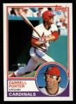 1983 Topps #103   Darrell Porter Front Thumbnail
