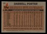 1983 Topps #103   Darrell Porter Back Thumbnail