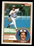 1983 Topps #745   Scott McGregor Front Thumbnail
