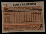 1983 Topps #745   Scott McGregor Back Thumbnail