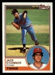 1983 Topps #33  Jack O'Connor  Front Thumbnail
