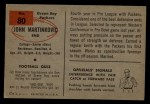 1954 Bowman #80  John Martinkovic  Back Thumbnail