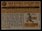 1960 Topps #371  Bud Byerly  Back Thumbnail