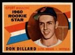 1960 Topps #122  Rookies  -  Don Dillard Front Thumbnail