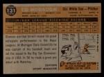 1960 Topps #131  Rookies  -  Ed Hobaugh Back Thumbnail