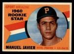 1960 Topps #133  Rookies  -  Manuel Javier Front Thumbnail