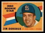 1960 Topps #124  Rookies  -  Jim Donohue Front Thumbnail