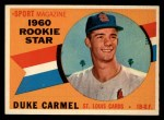 1960 Topps #120   -  Duke Carmel Rookies Front Thumbnail