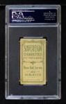 1909 T206 #89  Bill Clancy  Back Thumbnail