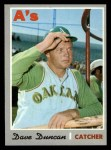 1970 Topps #678  Dave Duncan  Front Thumbnail