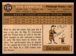 1960 Topps #104  Dick Schofield  Back Thumbnail