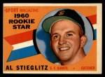 1960 Topps #144  Rookies  -  Al Stieglitz Front Thumbnail