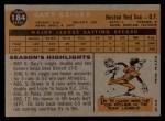1960 Topps #184   Gary Geiger Back Thumbnail