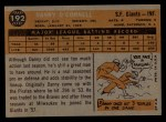1960 Topps #192   Danny O'Connell Back Thumbnail