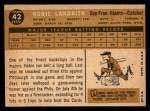 1960 Topps #42   Hobie Landrith Back Thumbnail