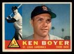 1960 Topps #485  Ken Boyer  Front Thumbnail