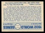 1970 Fleer World Series #29  1932 Yankees vs. Cubs    -  Babe Ruth  / Lou Gehrig Back Thumbnail