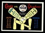 1970 Fleer World Series #25  1928 Yankees vs. Cardinals    -  Babe Ruth  / Lou Gehrig Front Thumbnail