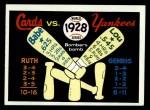 1970 Fleer World Series #25   -  Babe Ruth  / Lou Gehrig 1928 Yankees vs. Cardinals   Front Thumbnail