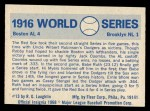 1970 Fleer World Series #13  1916 Red Sox vs. Dodgers    -  Babe Ruth Back Thumbnail