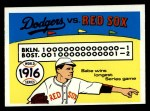 1970 Fleer World Series #13  1916 Red Sox vs. Dodgers    -  Babe Ruth Front Thumbnail