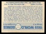 1970 Fleer World Series #56  1959 Dodgers vs. White Sox    -  Chuck Essegian Back Thumbnail