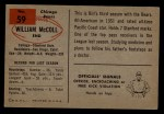 1954 Bowman #59  Bill McColl  Back Thumbnail
