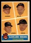 1960 Topps #460  Indians Coaches  -  Mel Harder / Jo Jo White / Bob Lemon / Ralph Kress Front Thumbnail