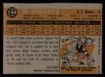 1960 Topps #144   -  Al Stieglitz Rookies Back Thumbnail