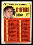 1969 Topps #504  Checklist 6  -  Brooks Robinson Front Thumbnail