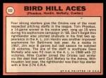 1969 Topps #532  Bird Hill Aces  -  Mike Cuellar / Jim Hardin / Dave McNally / Tom Phoebus Back Thumbnail