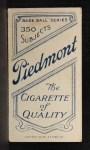 1909 T206 #305 POR Rube Marquard  Back Thumbnail