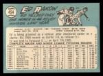 1965 Topps #454   Ed Rakow Back Thumbnail