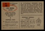 1954 Bowman #18  Leo Rucka  Back Thumbnail