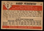 1953 Bowman #87  Harry Perkowski  Back Thumbnail
