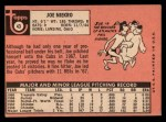 1969 Topps #43  Joe Niekro  Back Thumbnail