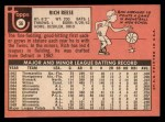1969 Topps #56  Rich Reese  Back Thumbnail