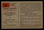 1954 Bowman #44   Volney Quinlan Back Thumbnail