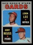 1970 Topps #96  Cardinals Rookies  -  Leron Lee / Jerry Reuss Front Thumbnail