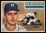 1956 Topps #107  Eddie Mathews  Front Thumbnail