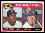 1965 Topps #226   Yankees Rookie Stars  -  Jake Gibbs / Elvio Jimenez Front Thumbnail
