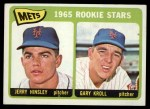 1965 Topps #449  Mets Rookies  -  Jerry Hinsley / Gary Kroll Front Thumbnail
