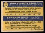 1970 Topps #286   -  Jack Jenkins / Bill Buckner Dodgers Rookies Back Thumbnail