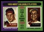 1975 Topps #191   -  Al Rosen / Roy Campanella 1953 MVPs Front Thumbnail