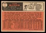 1966 Topps #141  Tom McCraw  Back Thumbnail